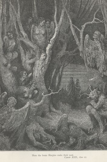 Dore Illustrations from the Divine Comedy - Hell, 13-135b.jpg - 127 KB