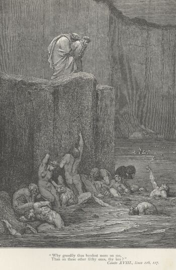 Dore Illustrations from the Divine Comedy - Hell, 18-181b.jpg - 119 KB