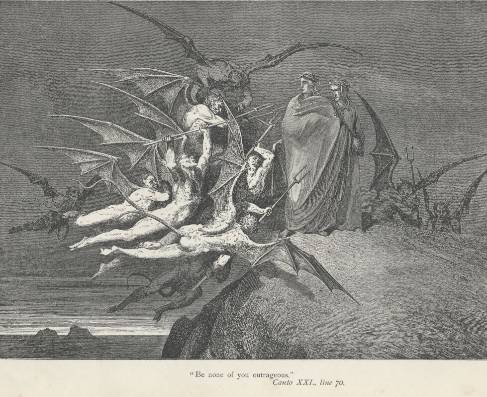 Dore Illustrations from the Divine Comedy - Hell, 21-205.jpg - 590 KB