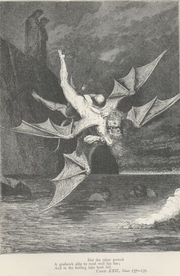 Dore Illustrations from the Divine Comedy - Hell, 22-215b.jpg - 116 KB