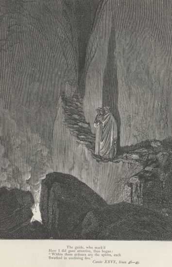 Dore Illustrations from the Divine Comedy - Hell, 26-245b.jpg - 111 KB