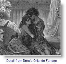 Detail from Dore's Illustration of Orlando Furioso
